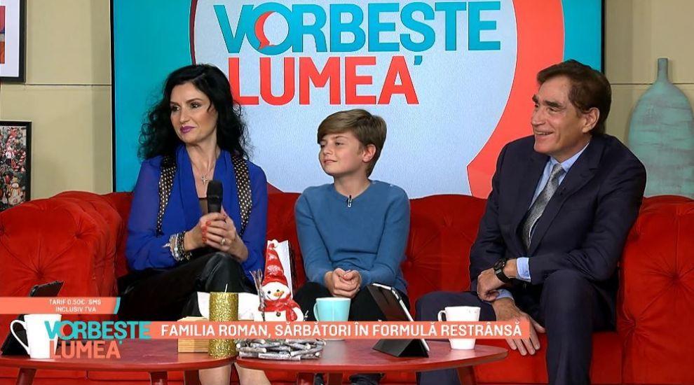 Petre Roman, apariție rară la TV, alături de soție și fiul lor, Petrus