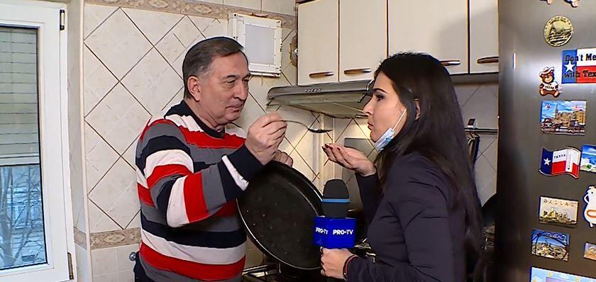 În vizită la Ion Crăciunescu. Fostul mare arbitru este maestru în bucătărie