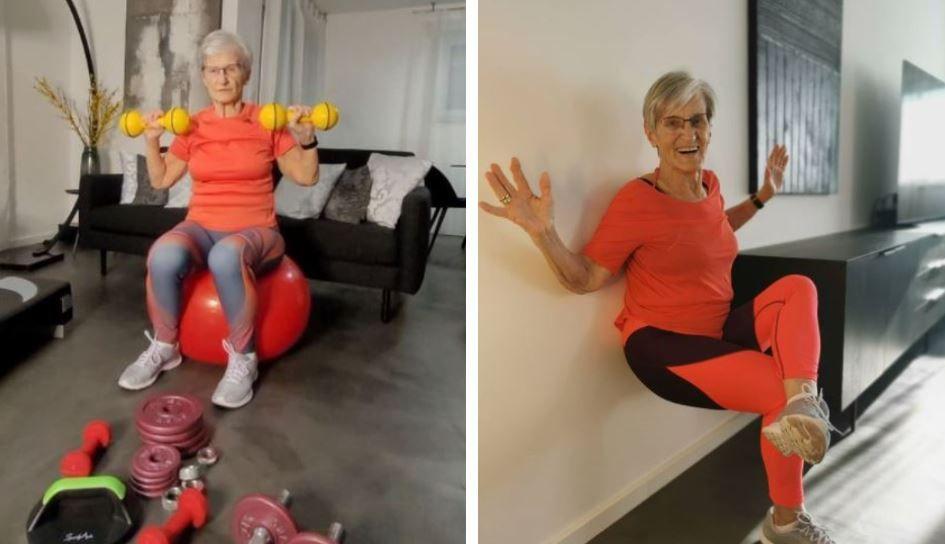 La 81 de ani, o bunică e vedetă pe internet! Video-urile în care face gimnastică și dansează sunt virale