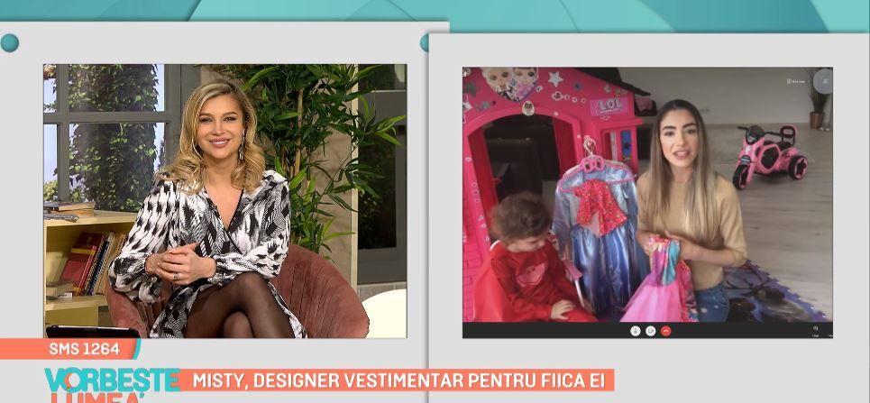 Misty, designer vestimentar pentru fiica ei, Arya