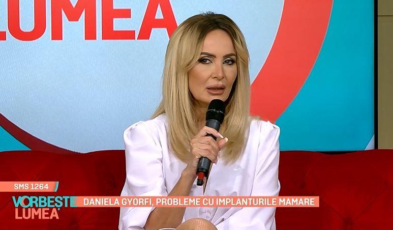 Daniela Gyorfi, probleme mari cu implanturile mamare. Artista se pregătește de operație
