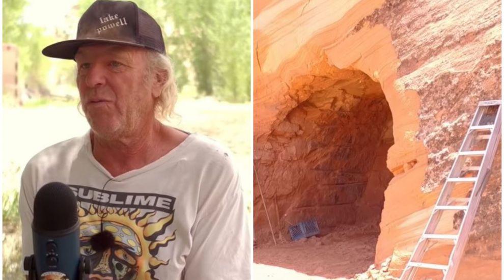 Un bărbat și-a construit casa visurilor sale, după ce a săpat 25 de ani într-o stâncă