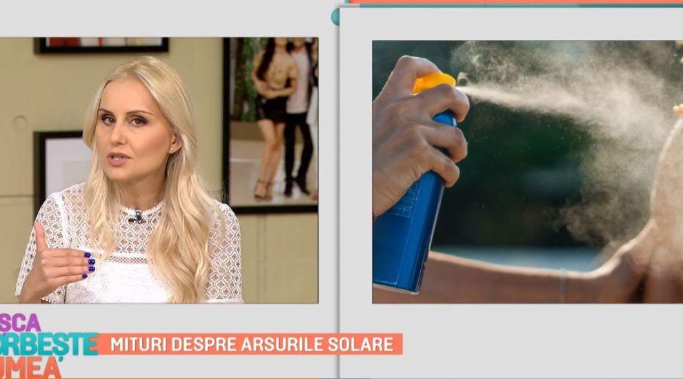 Poți trata arsurile solare cu iaurt sau miere? Medicul dermatolog Amalia Anghel explică ce este mit și ce este adevăr