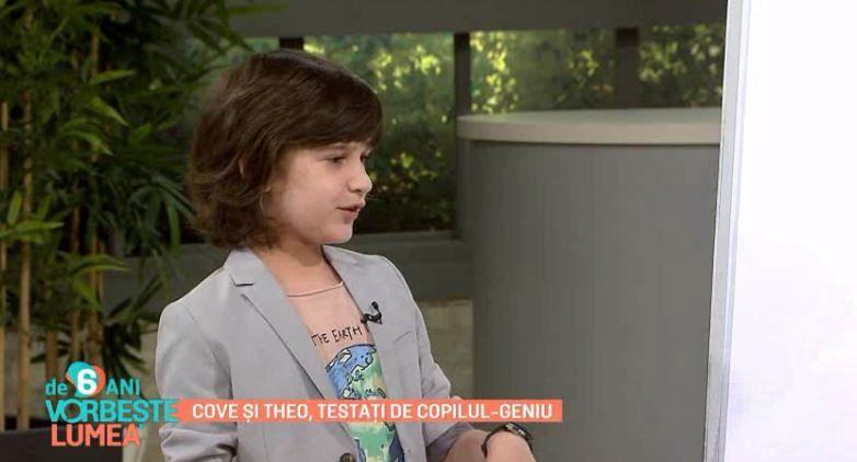 David Ioniță, copilul-geniu de la Românii au talent 2020, test pentru Cove și Theo Rose