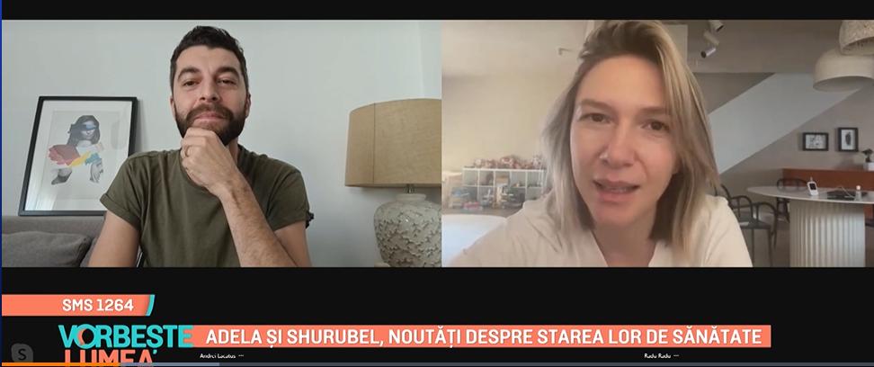 """Adela Popescu și Shurubel, noutăți despre starea de sănătate: """"Eu am mâncat ieri o ceapă și nu am simțit nimic"""""""