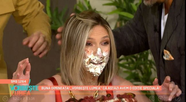 Horia Brenciu i-a trântit un tort în față Adelei Popescu! Reacția vedetei e spectaculoasă