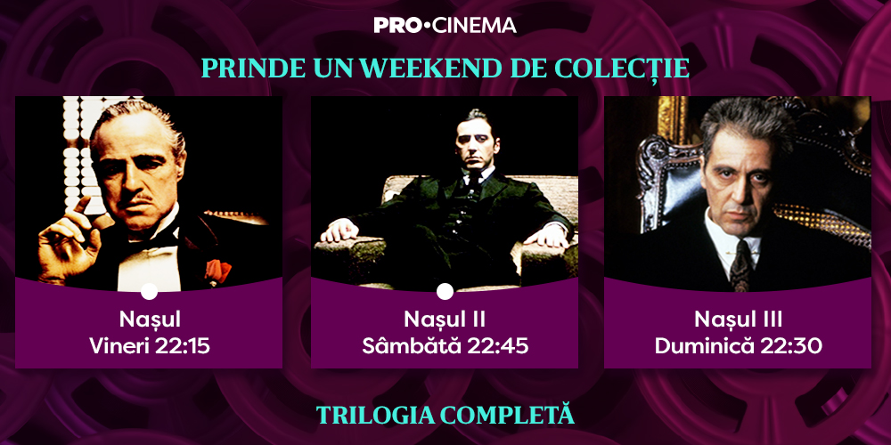 Cinema la tine acasă: trilogia-fenomen Naşul , la Pro Cinema