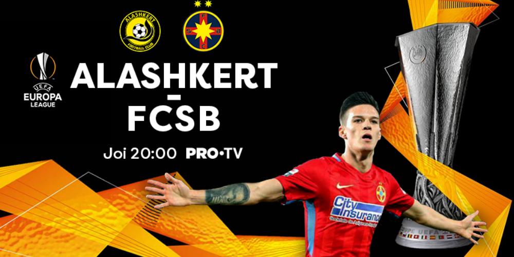 CALIFICAREA ÎN GRUPELE EUROPA LEAGUE PENTRU FCSB CONTINUĂ LA PRO TV!