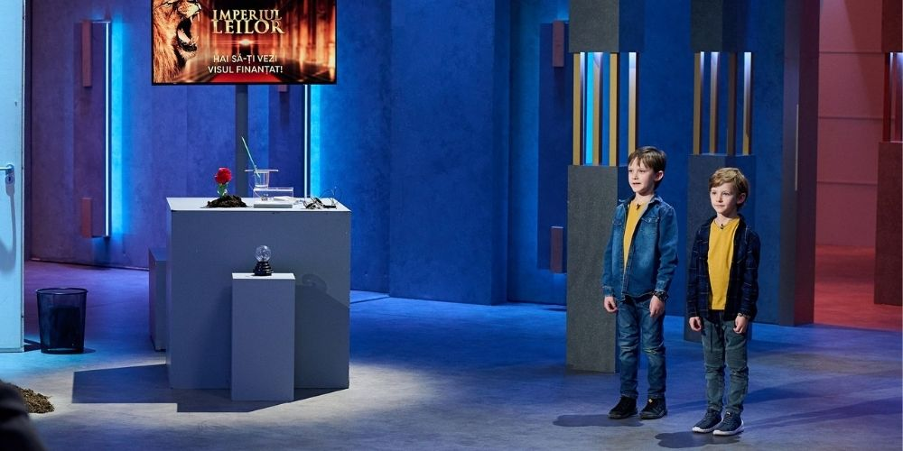 """Doi frați, de 6 și 9 ani, i-au impresionat pe investitori la Imperiul Leilor. """"Voi ați putea schimba lumea"""""""