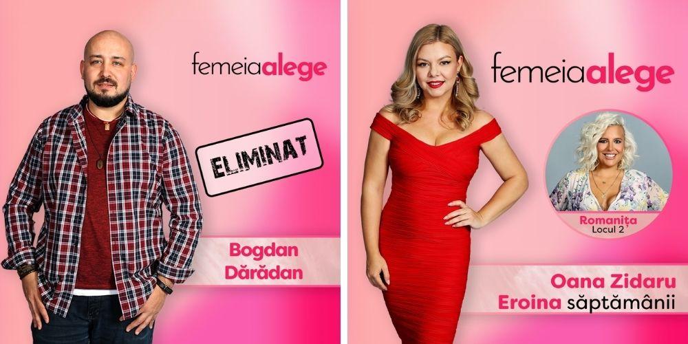 Romanița a decis: Bogdan Dărădan este cel de-al doilea concurent eliminat din show-ul Femeia alege