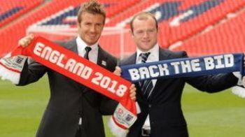 FOTO: Beckham si Rooney au lansat candidatura Angliei la Cupa Mondiala din 2018!