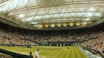 Istorie la Wimbledon: S-a jucat pentru prima data cu terenul acoperit! Imagini UNICE