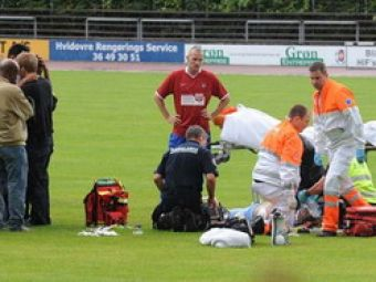FOTO: Un fotbalist danez, in coma dupa ce a fost lovit de un fulger pe teren!