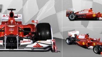 FOTO si VIDEO! Ferrari a lansat monopostul F1 2010! Vezi cum arata