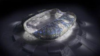"""FOTO! Stadionul cu """"PIELE"""" cristalina se face in Rusia langa Dan Petrescu!"""