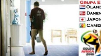 FOTO! Ce mai-danez :) Bendtner umbla in fundul gol prin hotelul nationalei