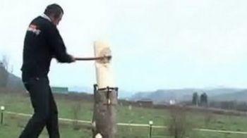 Echipa Romaniei se pregateste pentru campionatul mondial de taiat lemne! Vezi de la cine invata!