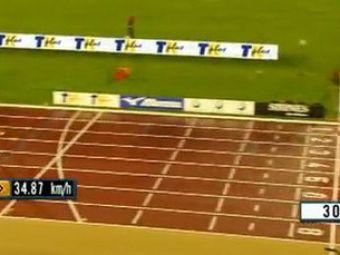 Usain Bolt - foarte aproape sa doboare recordul mondial pe 300 de metri!VIDEO
