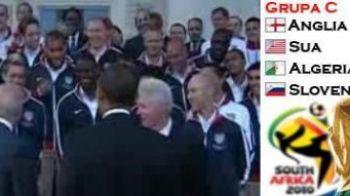 Fotbal in Biroul Oval :) Vezi cum sustine OBAMA nationala Americii la Mondial! VIDEO