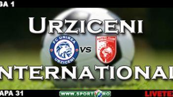 Unirea, la un punct de CFR: Urziceni 1-0 International!