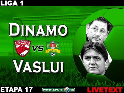 Dinamo 1-1 FCVaslui (N'Doye '58 / Wesley '52