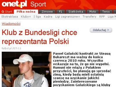 Cand pleaca Golanski de la Steaua! Ce scrie presa din Polonia