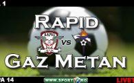 Rapid e lider! Rapid 4-1 Gaz Metan! (Iencsi 43, Spadacio 71, Ionita 81, Raduta 91 / Parvulescu 62)