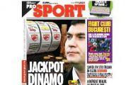 ProSport / Jackpot Dinamo: a pus mana pe 8.5 milioane de euro