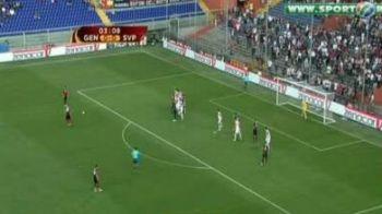 Vezi un SUPERgol din lovitura libera reusit de Zapater in Genoa 2-0 Slavia Praga!