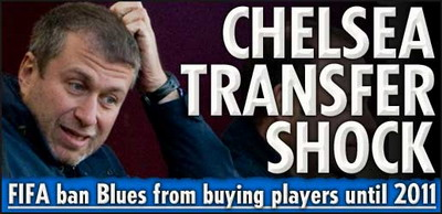 Chelsea nu mai are voie sa faca transferuri pana in ianuarie 2011!