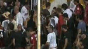 VIDEO: Episodul Dinamo se repeta in Europa! Fanii au facut praf un meci din Franta!