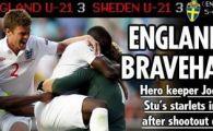 VIDEO Eroul Angliei, portarul Hart, le-a aratat atacantilor cum se bate un penalty!