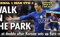 """Gazzetta: """"Ronaldo, ce racheta!""""; UEFA: """"United poate rescrie istoria"""""""