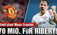 United isi apara spatele! Manchester a facut o oferta de 70 de mil de € pentru Ribery!