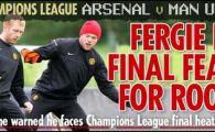 Rooney, la un cartonas de a rata finala! Arsenal - United este azi la ProTV, de la 21.45
