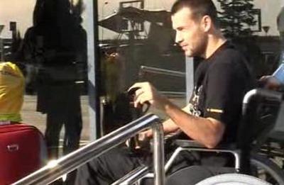 """Goga, in scaun cu rotile: """"Mi-au bagat 4 suruburi in peroneu!"""""""