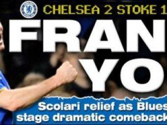 Incredibil! Torpila lui Lampard o salveaza pe Chelsea in min 94: 2-1 cu Stoke