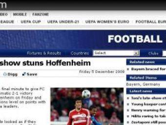 """UEFA: """"Hoffenheim, paralizata de Luca Toni"""""""