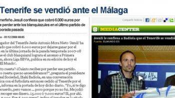 """A aparut """"valiza"""" in Spania! Vezi cat au primit jucatorii lui Tenerife sa """"tranteasca"""" meciul cu Malaga!"""
