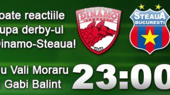 ACUM: Toate reactiile dupa Dinamo 1-1 Steaua!