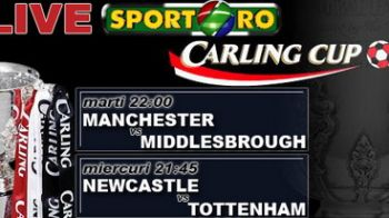 Manchester - Middlesbrough si Newcastle -Tottenham Live pe Sport.ro