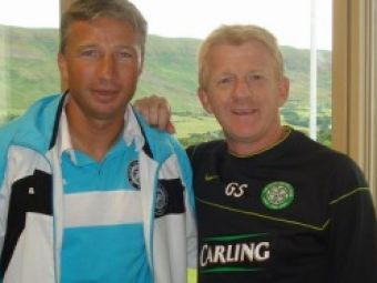 Dan Petrescu in cantonamentul lui Celtic