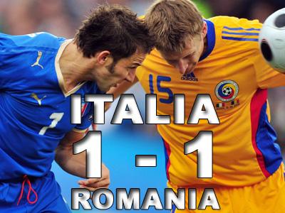 Remiza dramatica: Italia 1-1 Romania