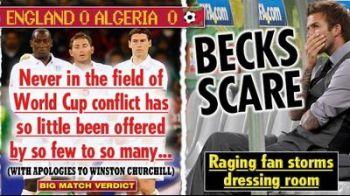Un fan furios a intrat in vestiarul Angliei! Beckham a fost tinta principala: