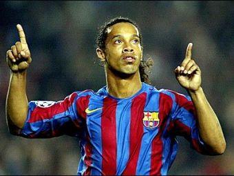 Rosell il aduce din nou pe Ronaldinho la Barcelona!