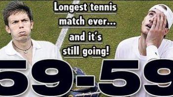 Reactia lui Federer la cea mai lunga partida din istoria tenisului!!!