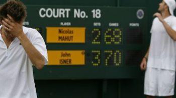 Vezi care sunt cele 12 recorduri batute in cel mai lung meci din istoria tenisului: Isner - Mahut!