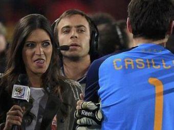 Intalnire de gradul III! Sara Carbonero i-a luat interviu lui Casillas dupa ce a aparat penaltyul cu Paraguay!