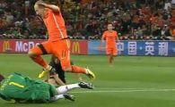 Robben nebun de furie dupa ce a fost faultat de Puyol! Merita rosu spaniolul?