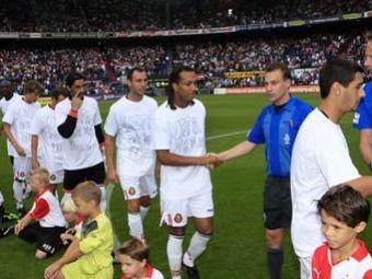 Jucatorii delaReal Mallorca au protestat fata de UEFA, la meciul de retragere al lui Van Bronkhorst!